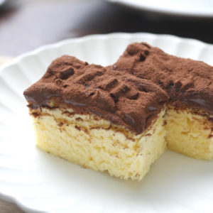 レンジで3分!とろけるチョコバナナケーキ【超簡単】